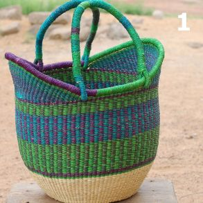 1 - green purple and turquoise -