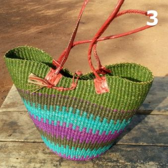 3 - olive turquoise and purple -