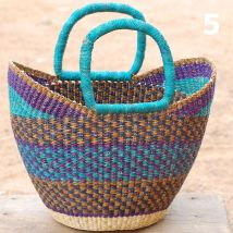5 - turquoise brown and purple -