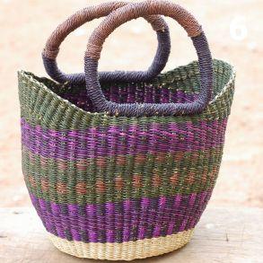 6 - olive purple dark blue and brown -