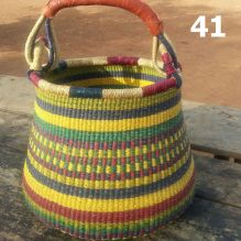 41 - yellom green blue and red stripes -