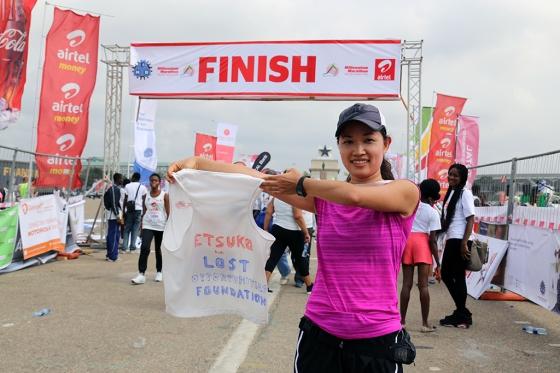 Etsuko Ito finish line